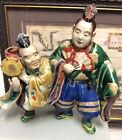 Antique Japanese Porcelain Figures with Musician