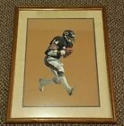 Original WALTER PAYTON Pastel Painting by PHIL FERGUSON - Signed, Framed, Matted