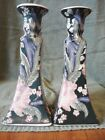 ANTIQUE Chinese Porcelain CANDLESTICK HOLDERS - FAMILLE ROSE - 10