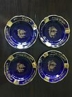 Limoges France Cobalt Blue & 24k Gold Veritable Porcelaine D'Art Ashtray