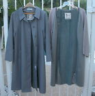 Misty Harbor Gray Trench Coat w Removable Fur Lining Rain & Stain Repellent 16 P