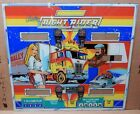 Bally NOS 1977 NIGHT RIDER PINBALL  BACKGLASS