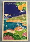 Vietri pottery-4,1/4x2,3/4in. Tile Sorrento scenery.Made/Painted by hand-Italy