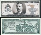 Lot of 500 BILLS -Theodore / Teddy Roosevelt Million Dollar Note w Rough Riders