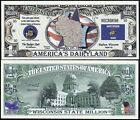 Lot of 500 BILLS - WISCONSIN STATE MILLION DOLLAR w MAP, SEAL, FLAG, CAPITOL