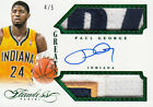 2014-15 Flawless GREATS Dual Multi Colored Patch Auto PAUL GEORGE Pacers #4 5