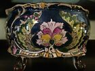 ANTIQUE ROYAL BONN ART NOUVEAU JADINIERE PLANTER COBALT BLUE OLD DUTCH GERMANY