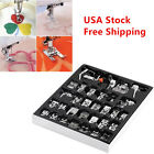 32 PCS Sewing Machine Presser Foot Feet For Brother Singer Janome Domestic E1