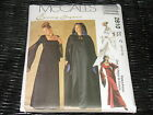 Medieval Goth Gown, Hooded Cape Pattern McCalls 2810 Sz 4-6-8 UNCUT