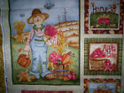 2 panels HAPPY HARVEST by Kelly Mueller The Wooden Bear Red Rooster fabrics fall