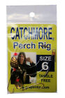 Catchmore Perch Rig 12 PACKS of Same Color Size Tangle Free for Pan Game Fish