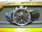FORTIS  Automatic Chronograph Black Leather Mens Watch 59711141 wow
