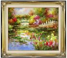 Framed Monet Water Lily Pond Repro 9, Quality Hand Painted Oil Painting, 20x24in