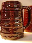 Vintage Marcrest Stoneware Mug Tankard Stein Daisy And Dot Pattern USA Monmouth