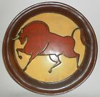 Vintage 1944 POTTERY CHARGER/PLATE With BULL