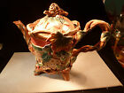 GORGEOUS FITZ AND FLOYD CLASSICS CHRISTMAS LODGE TEAPOT HIGHLY DETAILED