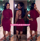 New Women Sexy 2 Piece Set Bandage Cloak Top Backless Nightclub Body con Dresses
