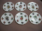 CROWNFORD 8 INCH SALAD/FRUIT WHITE/GOLD TRIM PLATES MADE IN ENGLAND / LOT OF 6