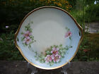 C Plate Vintage Pale Blue Hand Painted Apple Blossoms Flower Bavaria Cabinet