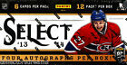 2013 14 PANINI SELECT HOCKEY FACTORY SEALED HOBBY BOX 4 AUTOS BOX