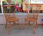 Pair of Vintage Classic Windsor Chairs by Ethan Allen - Original Maple or Birch