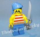 Lego minifig PIRATE w Blue Rag Hat & Cutlass LEGO Pirate 6268 MiniFig MiniFigure