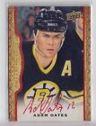2014-15 Upper Deck Masterpieces Adam Oates Red Framed On Card Auto (20 30)