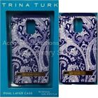 Trina Turk Dual Layer Samsung Galaxy S5 Case Cover Paisley Print Blue / White