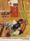Carlton Fisk Autographed 1969 Boston Red Sox Program #40 on Roster SGC Red Sox