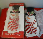 Fitz & Floyd Snowman Snack Therapy Serving Dish w/Box