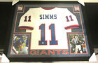 PHIL SIMMS AUTHENTIC AUTOGRAPHED FRAMED AND MATTED NEW YORK GIANTS JERSEY