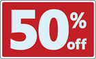 Sale 50 Percent off Discount Promotion Message Retail Store Business Sign