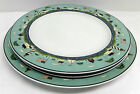 Set of 2 Warren Kimble Dinner Plates and 1 Serving Plate Sakura Coastal Breeze