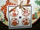 CHRISTMAS FRIENDS 222 Fifth Appetizer Plates New SET includes 4 Different Design