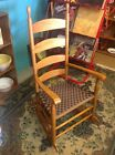 VINTAGE COHASSET HAGERTY COLONIAL WOOD LADDER BACK ROCKING CHAIR