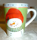 ONEIDA FIDDLESTIX FROSTY FOLKS SNOWMAN MUG (2) available red hat snowman   EXC