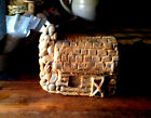 PRiMiTiVE HomeStead Blackened BeesWax Spiced Log Cabin House Ornie Ornament SALE