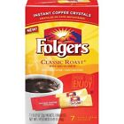 Folgers Instant Coffee Crystals Classic Roast Single Serve Packets ~ 7 ct.