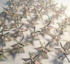Lot of 25  Stained Glass Moravian STARS Iridescent WHITE  Christmas