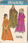 Simplicity Sewing Pattern Vtg 8354 Misses Caftan One Size  1969