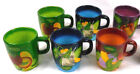 Rare Gates Ward by Laurie Gates - 6 Coffee Mugs Cups Vegetables Motif - Mint