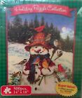 SET OF 2 KARMIN INTERNATIONAL HOLIDAY PUZZLE COLLECTION SNOWMEN 500 PIECES EACH