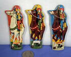 1 Vintage Original WESTERN COWBOY HORSES TIN Lithograph Whistle Toy 1950s Japan