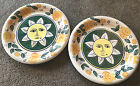 Two Style Eyes Baum Brothers ITALIAN SUN Pasta Yellow Green Dinner Plates 10.5