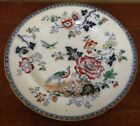 Antique Blue Pottery Ceramic Chinese Japanese Plate Platter Birds Marked 10
