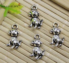 Lot 15100pcs Retro Crafts Jewelry Making Dog Alloy Charms Pendants Diy 17x11 Mm