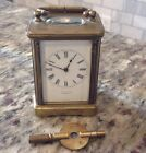 ANTIQUE Roe  Son Cambridge English CARRIAGE CLOCK Small WORKS