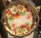 Schilde Scalloped Hand Painted Porcelain German Platter with Gold