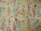 Lot girl fairy Bloomcraft screen print 9 yds fabric upholstery curtain cotton