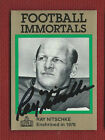 RAY NITSCHKE Autograph Auto FOOTBALL IMMORTALS HOF GREEN BAY PACKERS